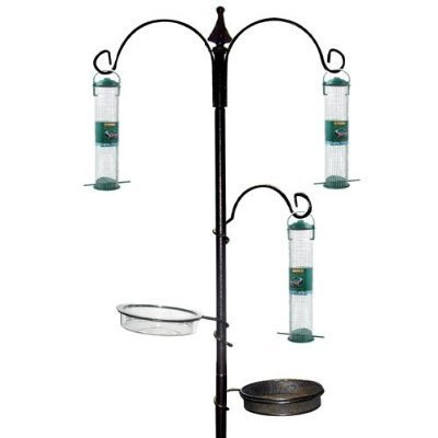 GARDEN BIRD FEEDING FEEDER STATION/FEED/WATER TABLE NEW