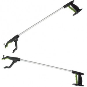 "Two x Long 32"" Strong Litter Pickers - Value Pack Pick Up & Reaching Tools"