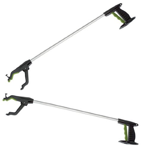 """Two x Long 32"""" Strong Litter Pickers - Value Pack Pick Up & Reaching Tools"""