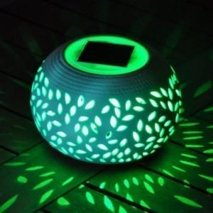 Solar Powered Ceramic Decorative Stone Light