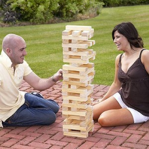 Kingfisher GA001 Giant up to 1.2m Tumbling Wooden Brick Block Tower,60 wooden blocks